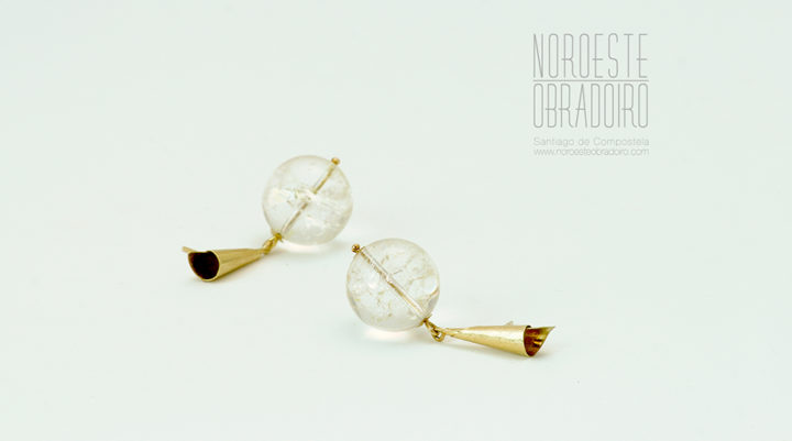 pendientes de oro joyas hechas a mano en Santiago de Compostela