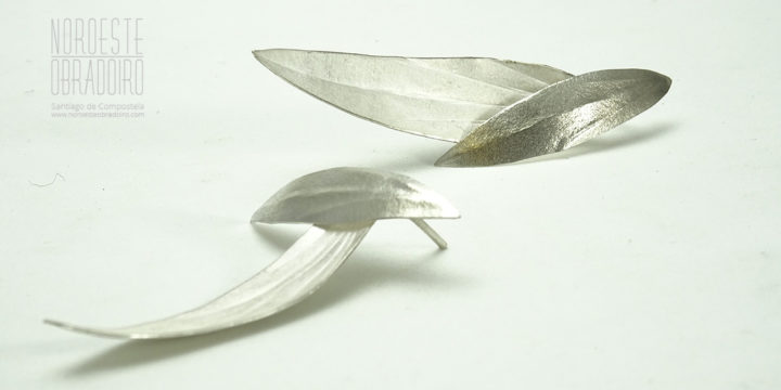 earrings made in Noroeste Obradoiro jewellery shop in Santiago de Compostela, Galicia