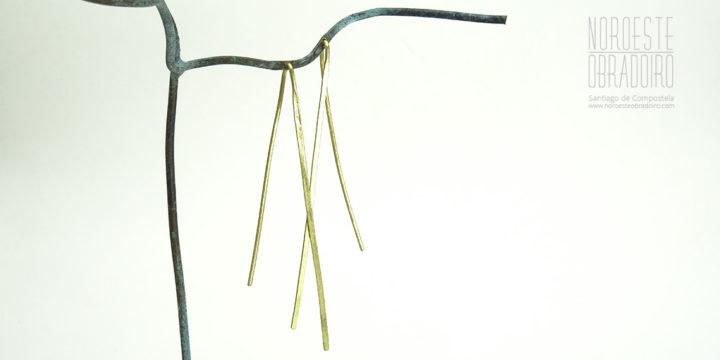 pendentes feitos en xoiería de autor Noroeste Obradoiro de Santiago de Compostela, Galicia